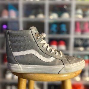 Vans Grey Leather Skate High